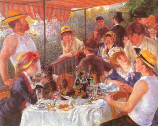 A Luncheon at Bougival, 1880-1881