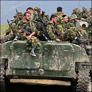 Russians Invading Georgia