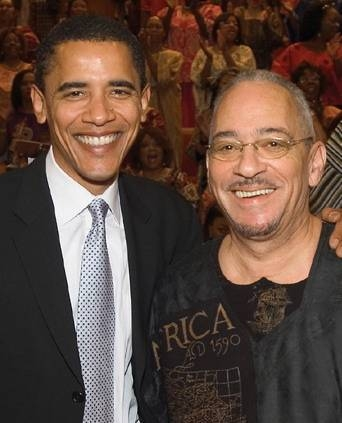 Barack Obama and Reverend  Jeremiah Wright