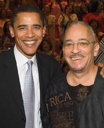 Barack Obama and Reverend  Jeremiah Wright