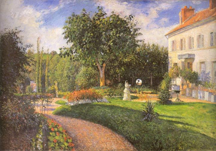 Camille pissarro videos pronk paintings for Le jardin des 6