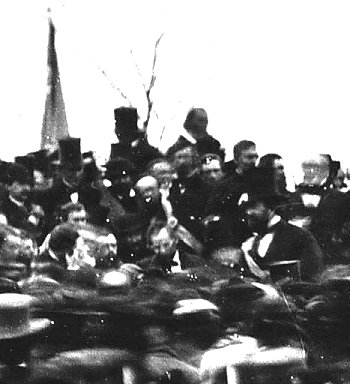 President Lincoln at Gettyburg