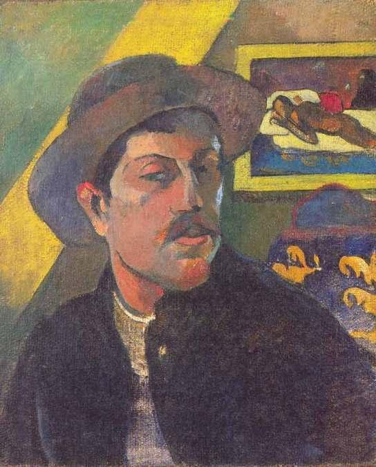 Self Portrait Wearing a Hat, 1893