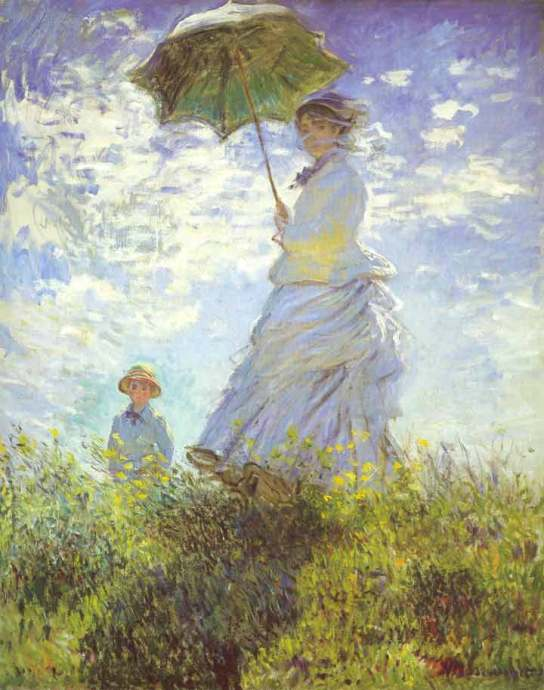 The Stroll Camille Monet and Her Son, 1875