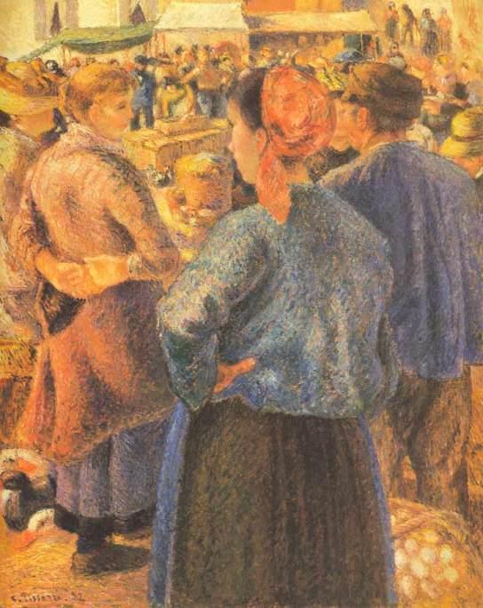 Le Marche a la Volaille Pointoise, 1882