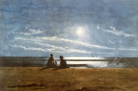 Winslow Homer, Moonlight, 1874