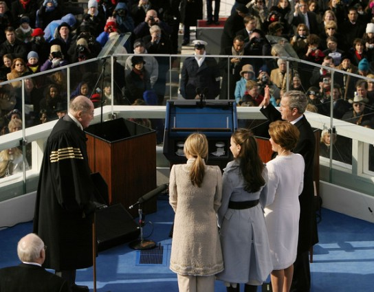 President George W. Bush Taking The Oath of Office