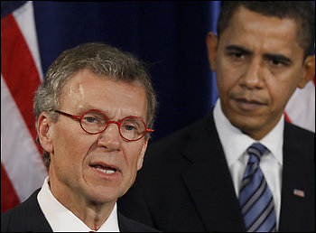 President Obama Stands Behind His Man--Tom Daschle--Limousine Liberal Lobbyist