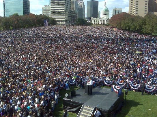 100,000 People Show-Up for Obama Rally