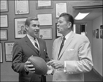 Jack Kemp and Ronald Reagan
