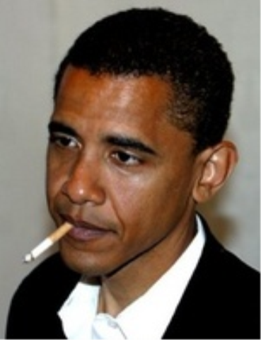 Barack Obama Smoking With Tony Hayward Blame Bush Says Rst Prez