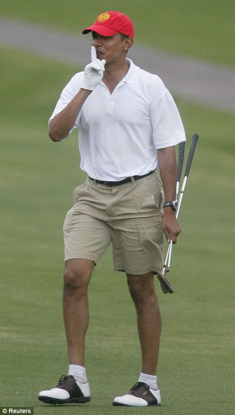 obama golf President Plays 90 Rounds of Golf: Another Historic Obama First!