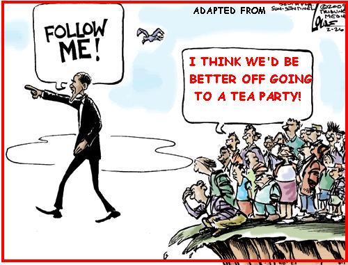 Barack Obama-Taking Us Over a Cliff