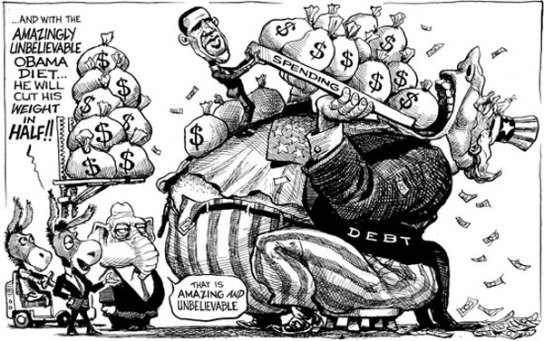 us_president_barack_obama_spending_money_for_debt_policy_speech_strategy_comic_political_cartoon_economist_funny_best_top_free_greatest1