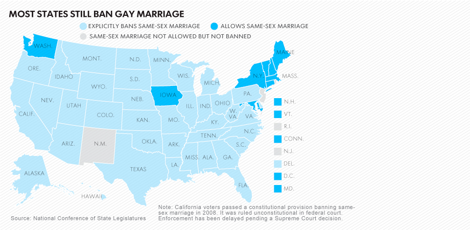 Gay marriage 30 states