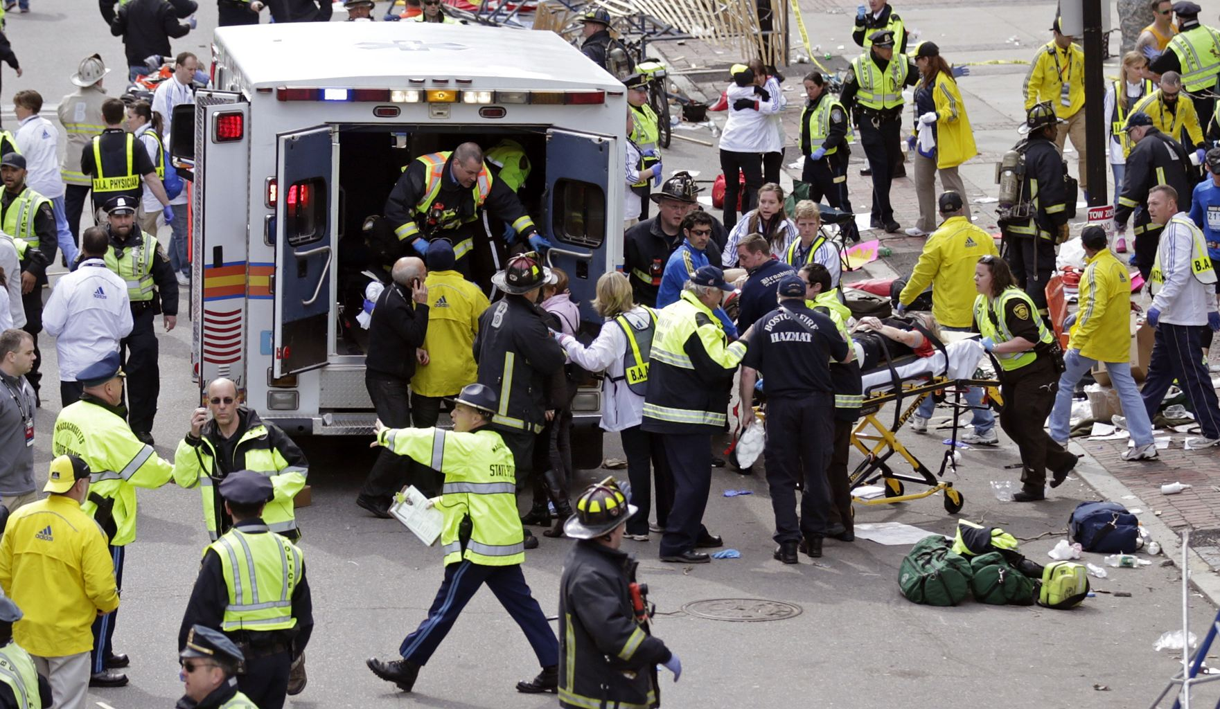 Terrorists Bomb Boston Marathon Finish Line — 3 Dead, 180 Injured With Two Bombs — April 15 ...