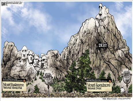 national debt cartoon