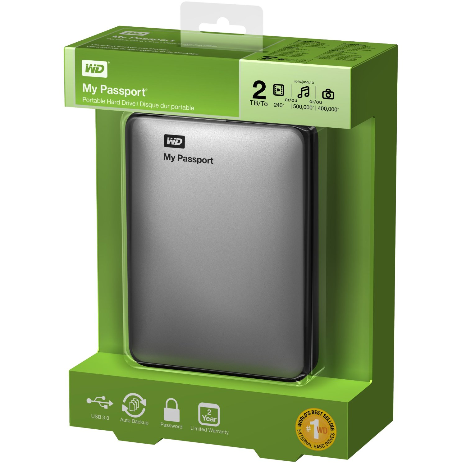 Western Digital My Passport 2TB and WD Nomad Rugged ...