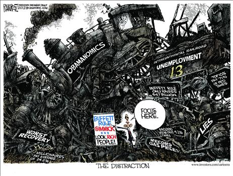 TRAIN WRECK, OBAMA CARTOONS