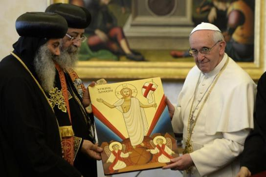 Coptic_Pope_visits_Vatican_Pope