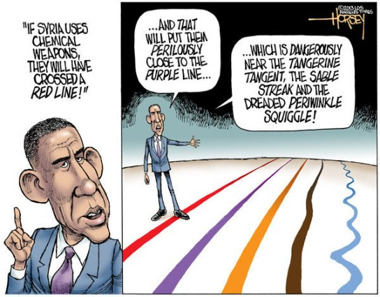 la-tot-cartoons-pg-the-hawks-are-squawking-about-obamas-rubbery-red-line-in-syria