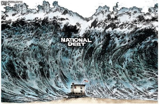 national debt wave
