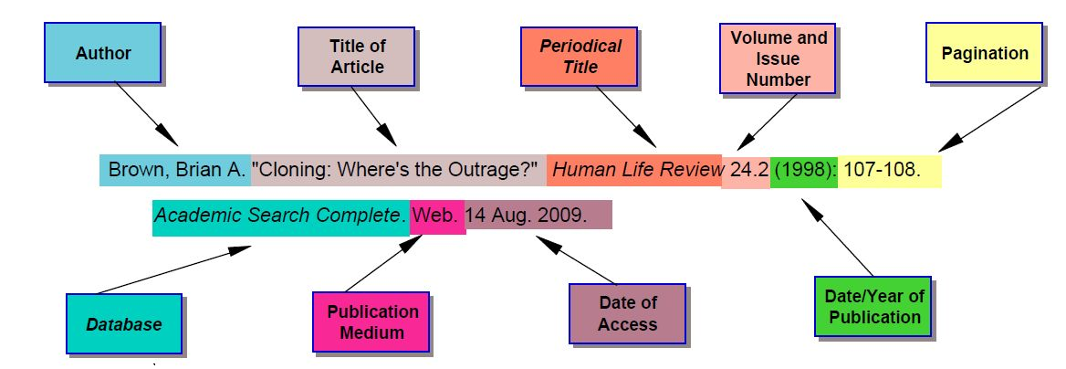 Mla Website Citation Example 2012