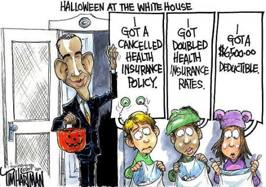 Obamacare-white-House-trick-or-treat-