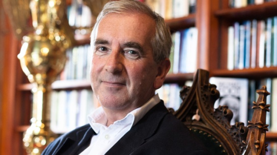Robert Harris in his study