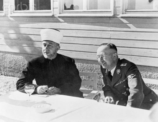 Heinrich Himmler with Haj Amin El Husseini