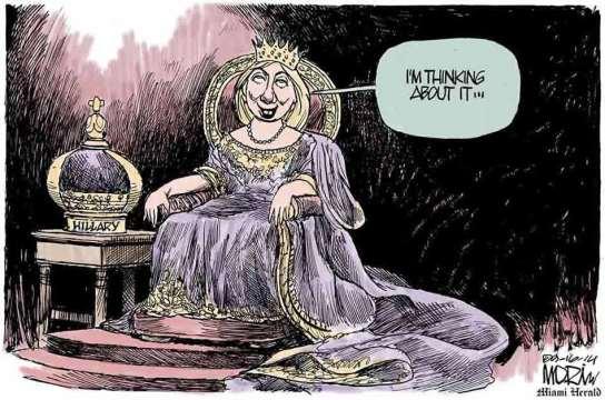 2014-cartoon-funny-queen-hillary-clinton-thinks-about-runnin