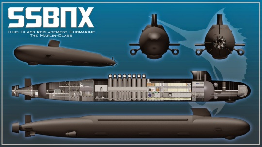 Image result for Ohio class replacement submarine